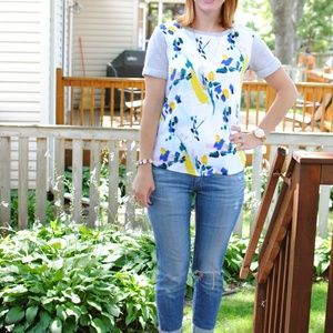 ANTHROPOLOGIE In Bloom Sweatshirt Floral {BB28}
